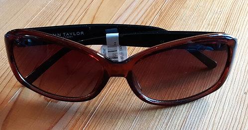 Brown Crackle-Arm Sunglasses