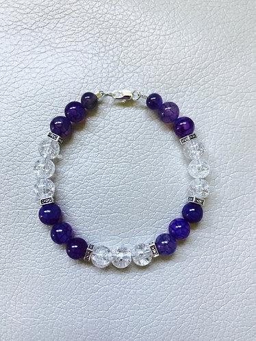 Purple Crackle Agate Bracelet