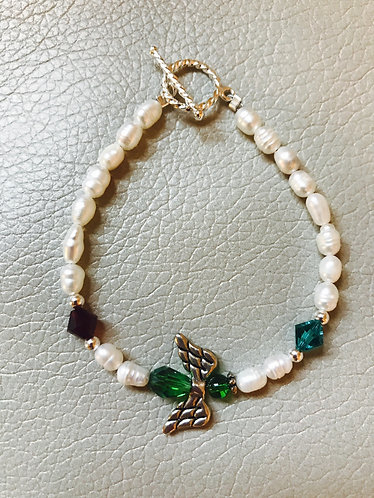 Angel Wing Birthstone Bracelet - Custom