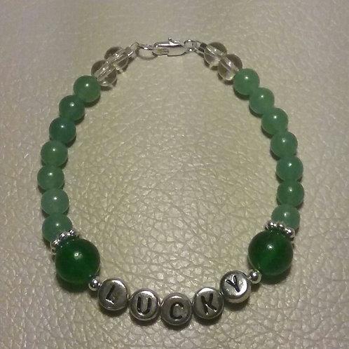 Green Quartzite & Aventurine LUCKY Bracelet