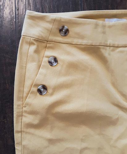 Sailor Ankle Pants - Yellow (Slim Fit)