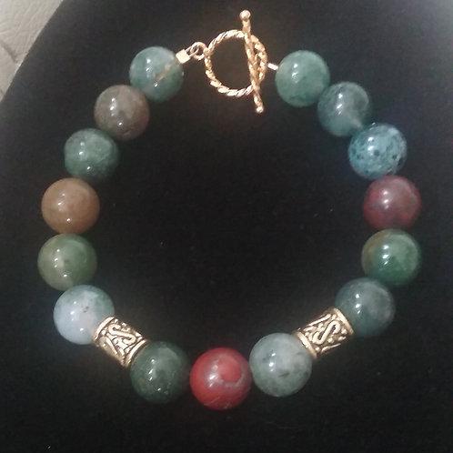 Fancy Jasper Jewel-tone Bracelet