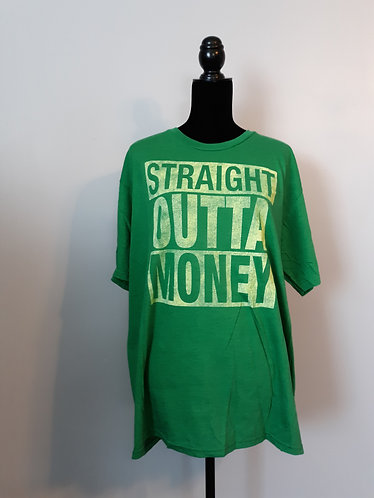 Straight Outta Money Tee - Green - Men's XL