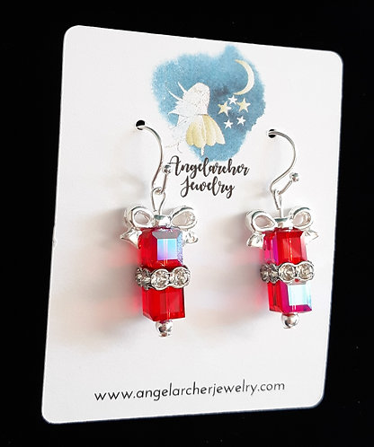 Christmas Gift Earrings - Red