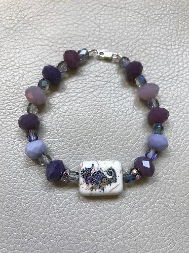 Amethyst Seahorse Bracelet