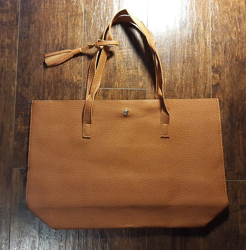 Large Slim Tote - Tan