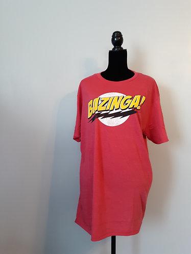 CLEARANCE - Bazinga! Tee - Red - Men's XL