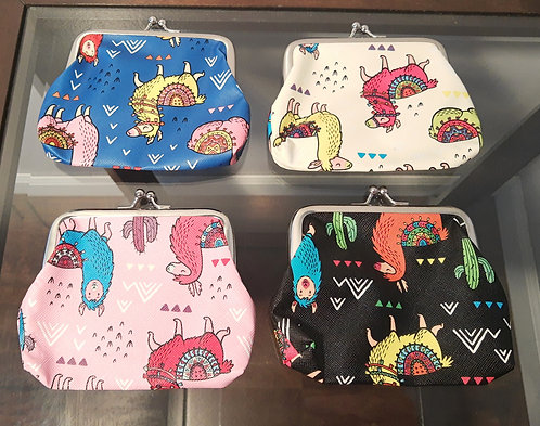 Assorted Llama Coin Purses