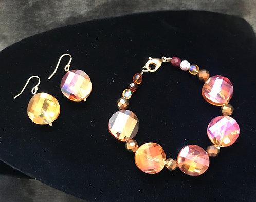 Faceted Amber Bracelet Set