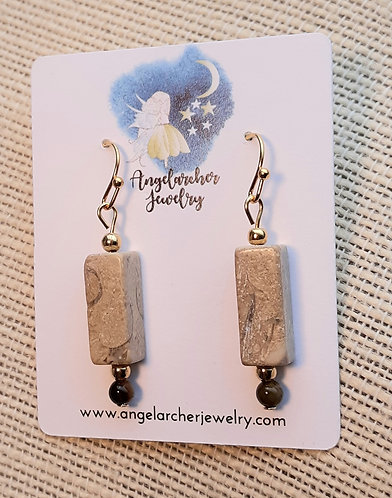 Riverstone & Tiger Eye Earrings