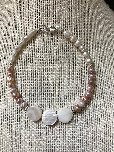 Freshwater Pearl & Shell Bracelet