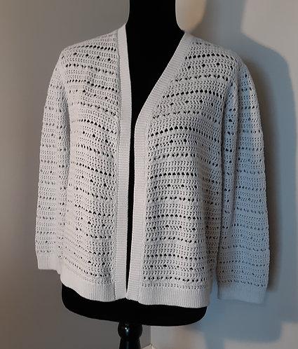Crochet Crop Sweater - Periwinkle