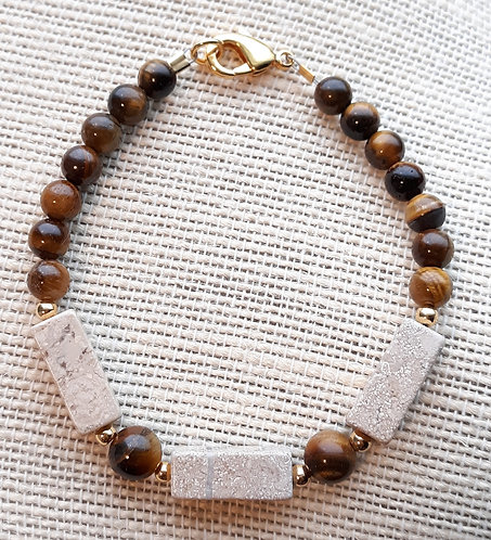 Riverstone & Tiger Eye Bracelet