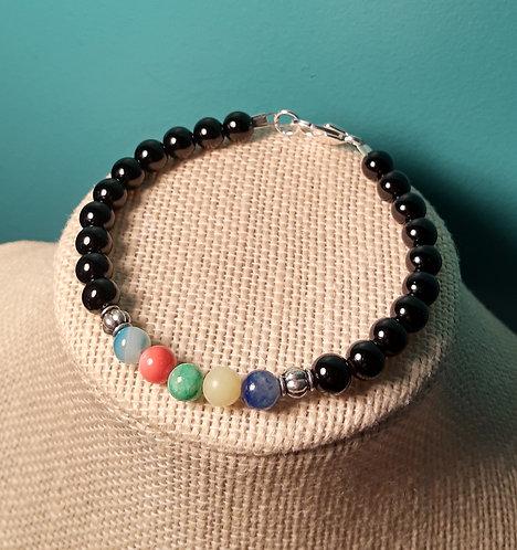 Black Jade & Multi-Stone Bracelet