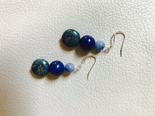 Blue Lapis Reconstituted Stone Earrings