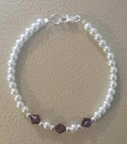 February Birthstone Bracelet