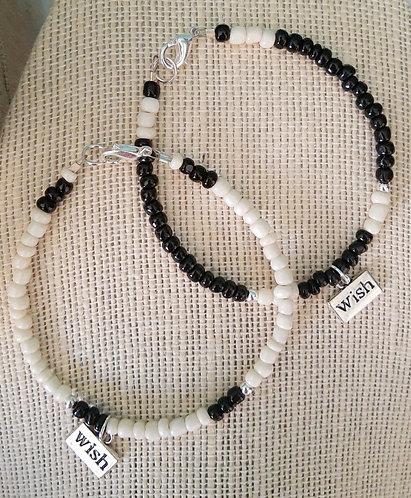 Buddy Bracelets - WISH (White & Black)