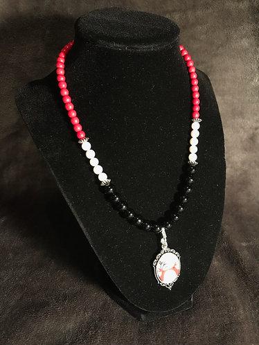 Kissing Reindeer Necklace & Earrings Set