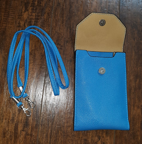 Small Crossbody Phone Wallet - Blue