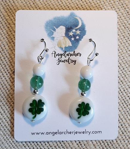 Four-Leaf Clover w/Light Green Aventurine