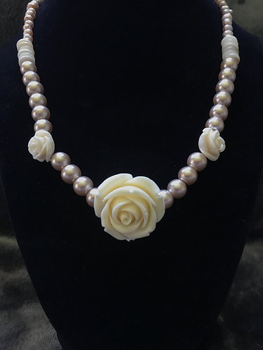 Roses & Champagne Choker Necklace