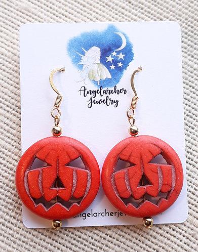 Orange Pumpkin Earrings