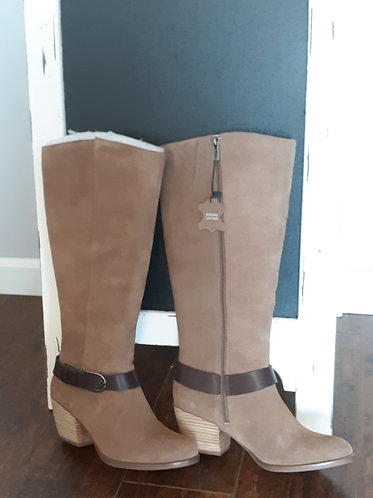 Tan Suede Tall Boots