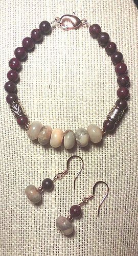 Crazy Agate & Red Brecciated Jasper Set