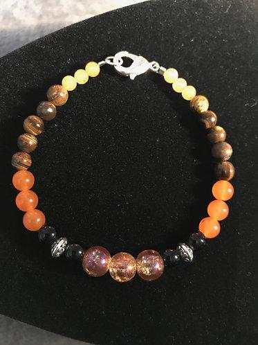Fire Agate Fall Bracelet