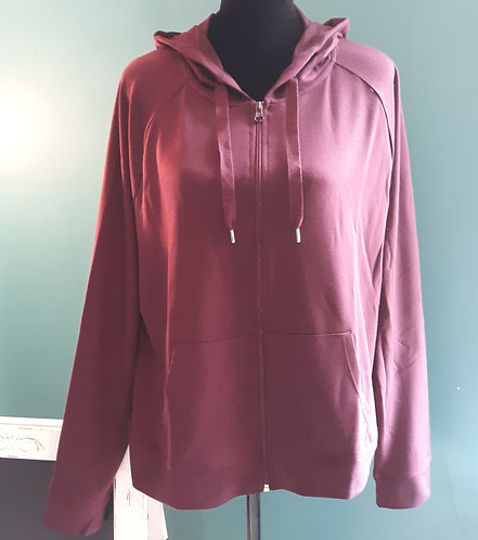 Burgundy LS French Terry Hoodie