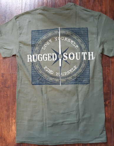 Rugged South Tee - Olive - CLEARANCE