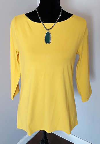 Yellow Boatneck Top