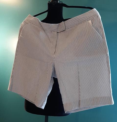 Blue & White Pinstripe Shorts
