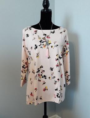 Peach Blush Floral Top