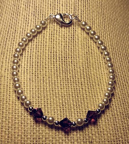 February Birthstone Bracelet - Sz Medium