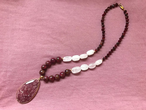 Red Jasper Teardrop Necklace