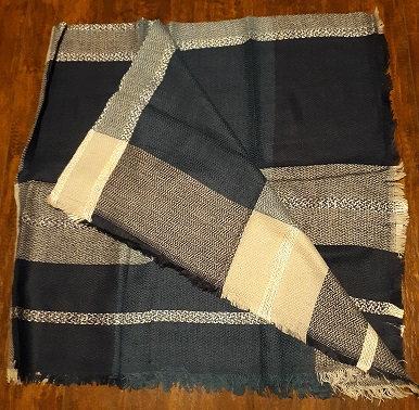 Blue Plaid Blanket Wrap/Scarf
