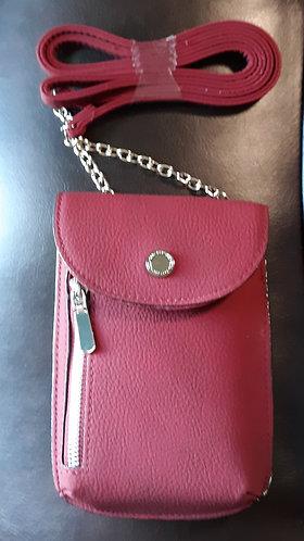 Dark Red/Wine Crossbody Phone Wallet