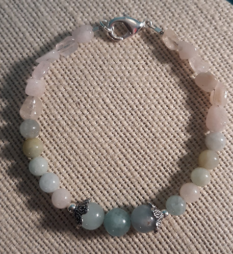 Morganite Bracelet w/Scallops