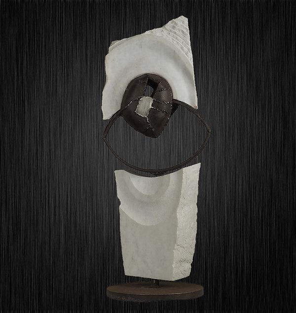 Scultpture marbre onix acier