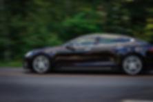 Black Sedan on Road