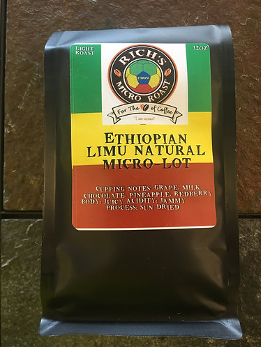 Ethiopian Limu Natural MICRO-LOT  12oz   Light Roast