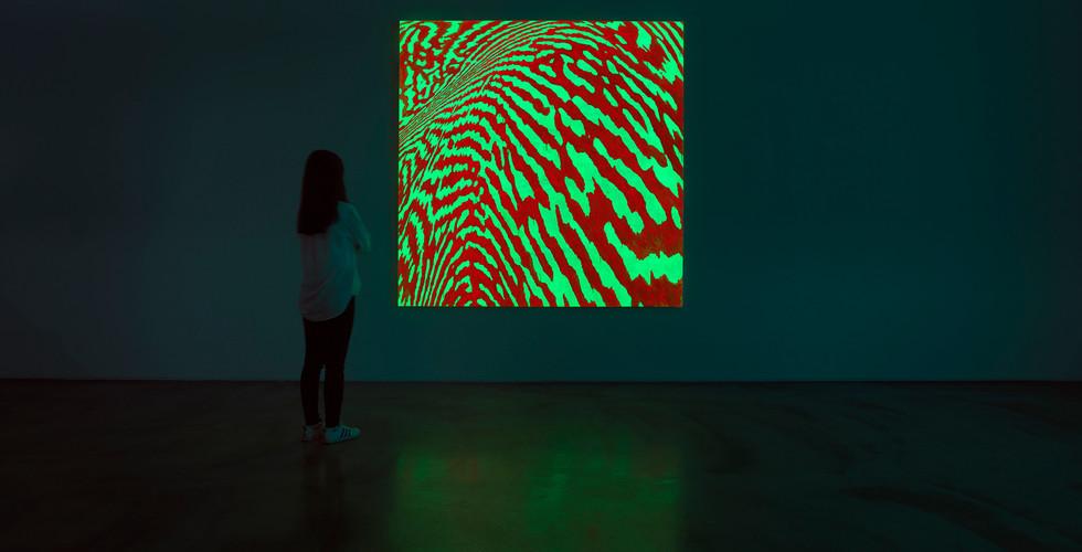Light Lines_#2180109_2018_acrylic&phosphorescent pigment on canvas_218 x 218 cm