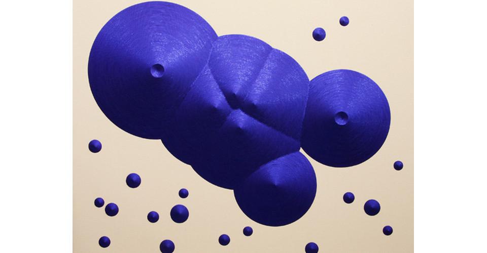 Constellation 16 (Cancer), 2011, sequins on canvas, 130 x 160 cm