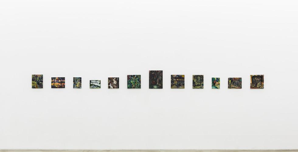 Hyein Lee, Installation view of The Logic of Sensation, Gallery Simon, 2017