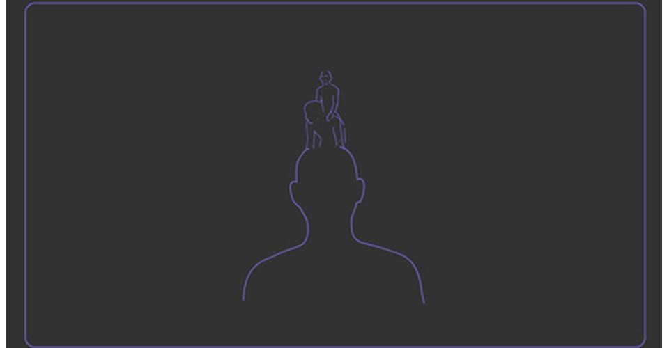 piggyback (Jihoo and Harabuji), 2012, video animation, media player, projector, variable dimensions