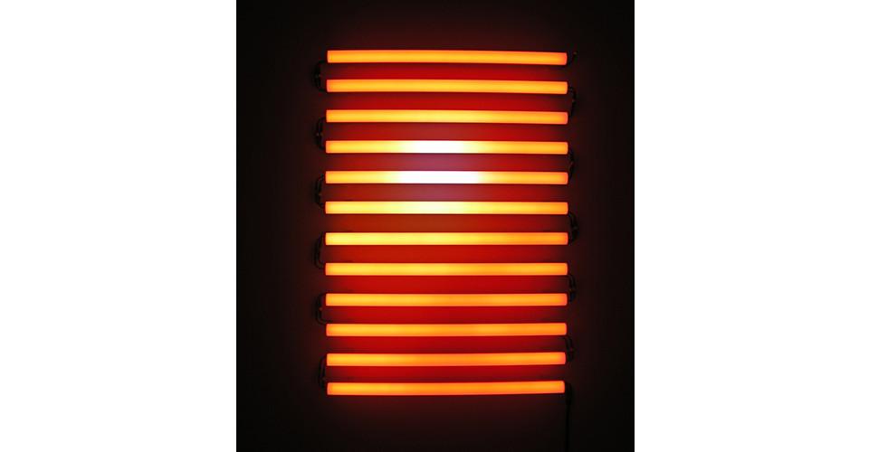 Ben Rubin, Sand Storm, 2006, LEDs, electronics, 58 x 40 x 4 14