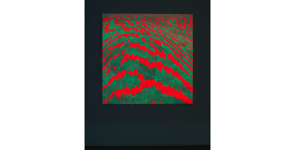 Light Lines_#2180104_2018_acrylic&phosphorescent pigment on canvas_137 x 137 cm