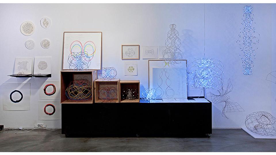 작가의 방 나선연구 벽면 Artist's studio Study on Spiral, 2011-2014, 565 x 253(h)cm