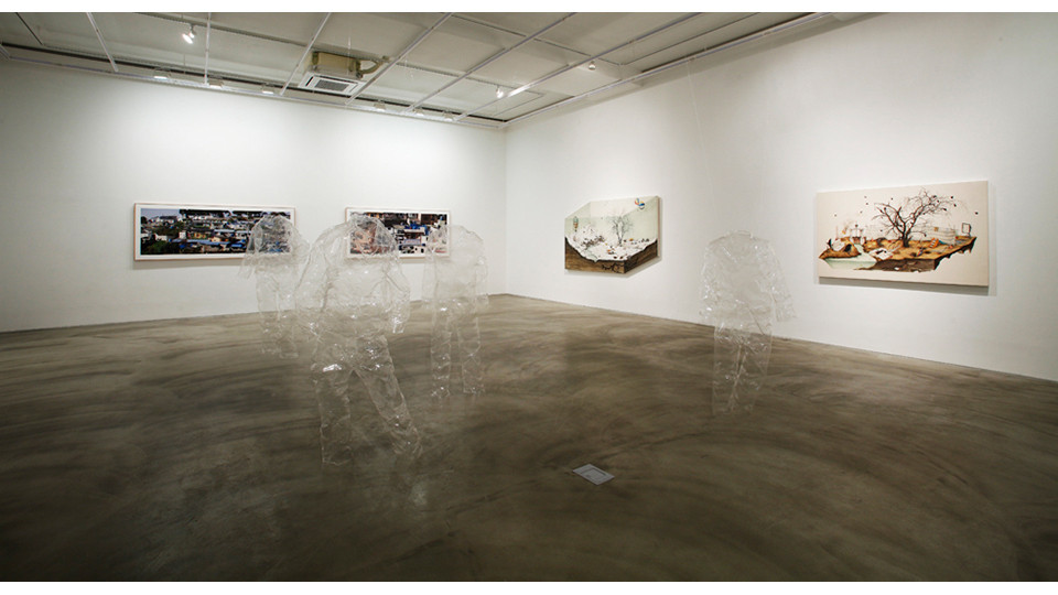Installation view of Cho Hye Jin, Detail, Gallery Simon, 2013